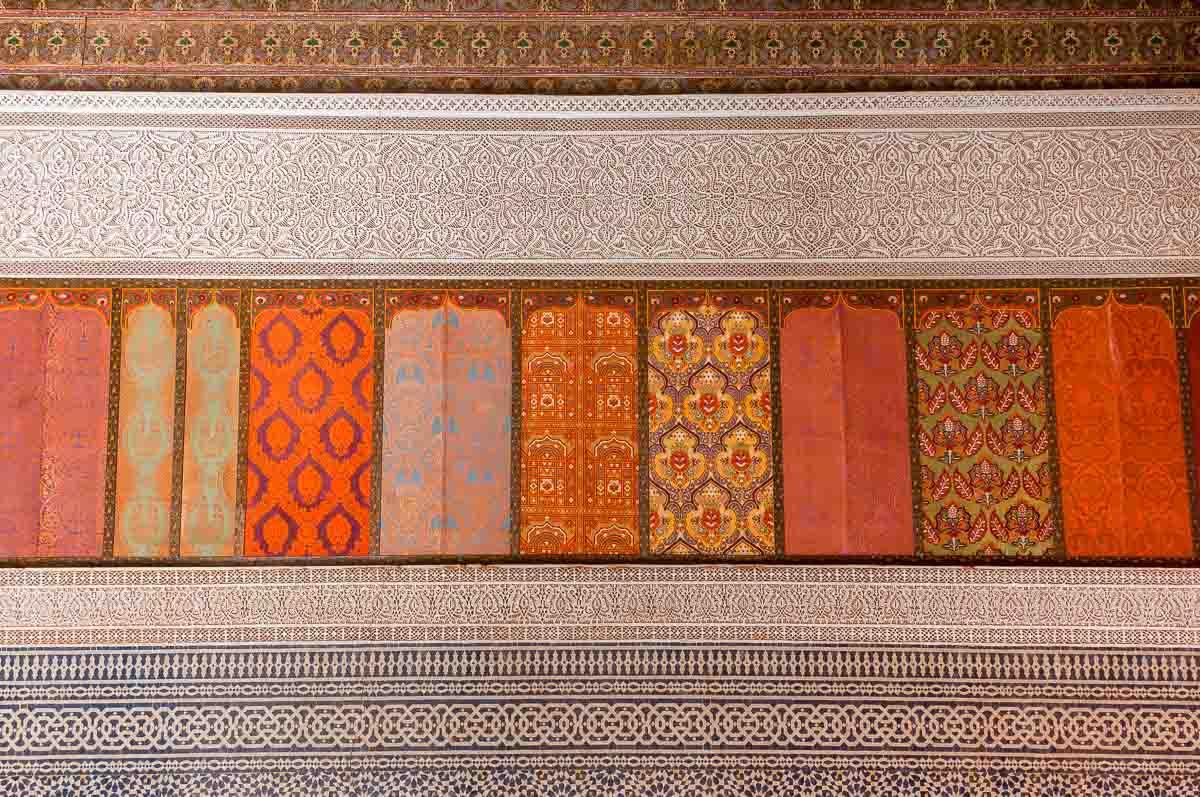 Telouet Kasbah inside wall decoration