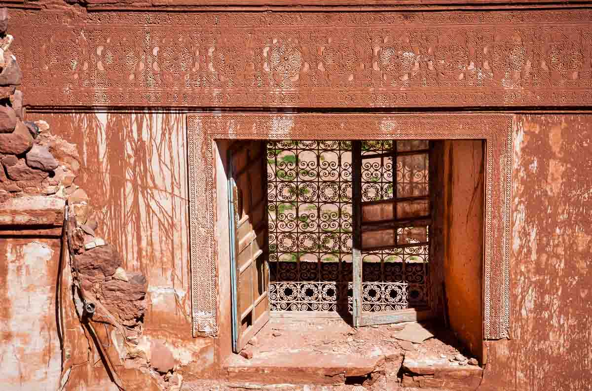 Telouet Kasbah ruin window