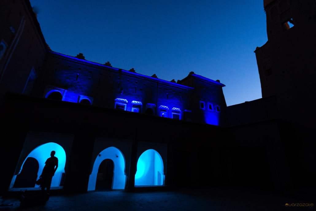 Kasbah Taourirt blue light
