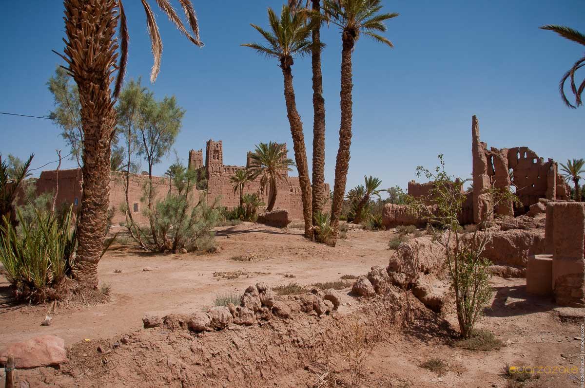 Ruin Kasbah, Skoura oasis, Ouarzazate