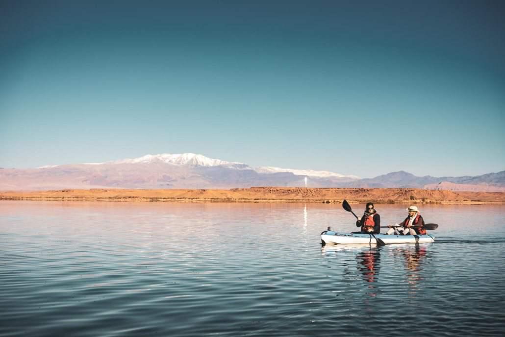 Kayaking in Ouarzazate lake