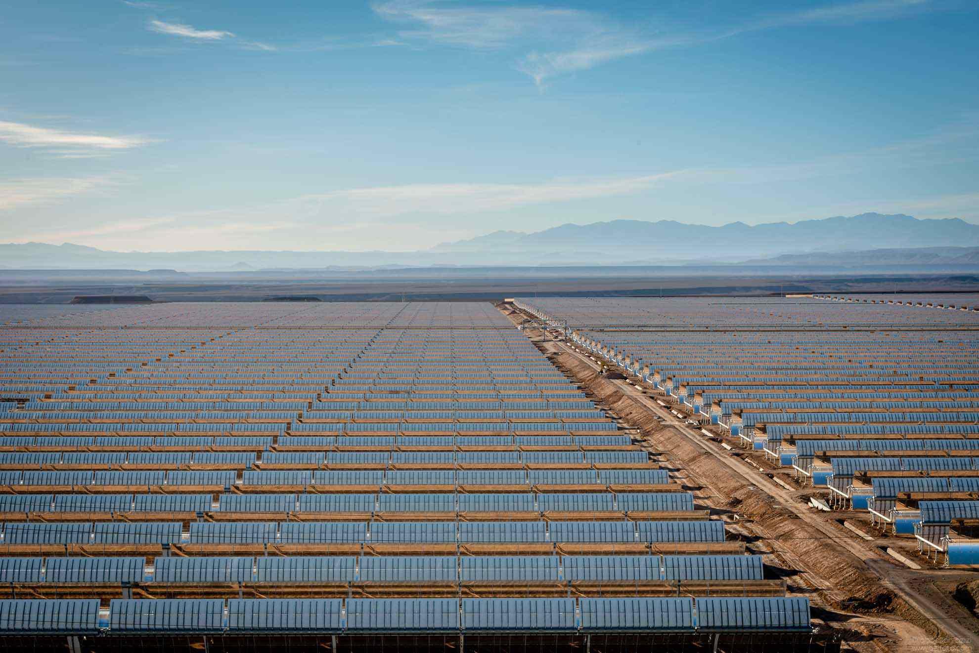 Mirrores of Ouarzazate solar power station