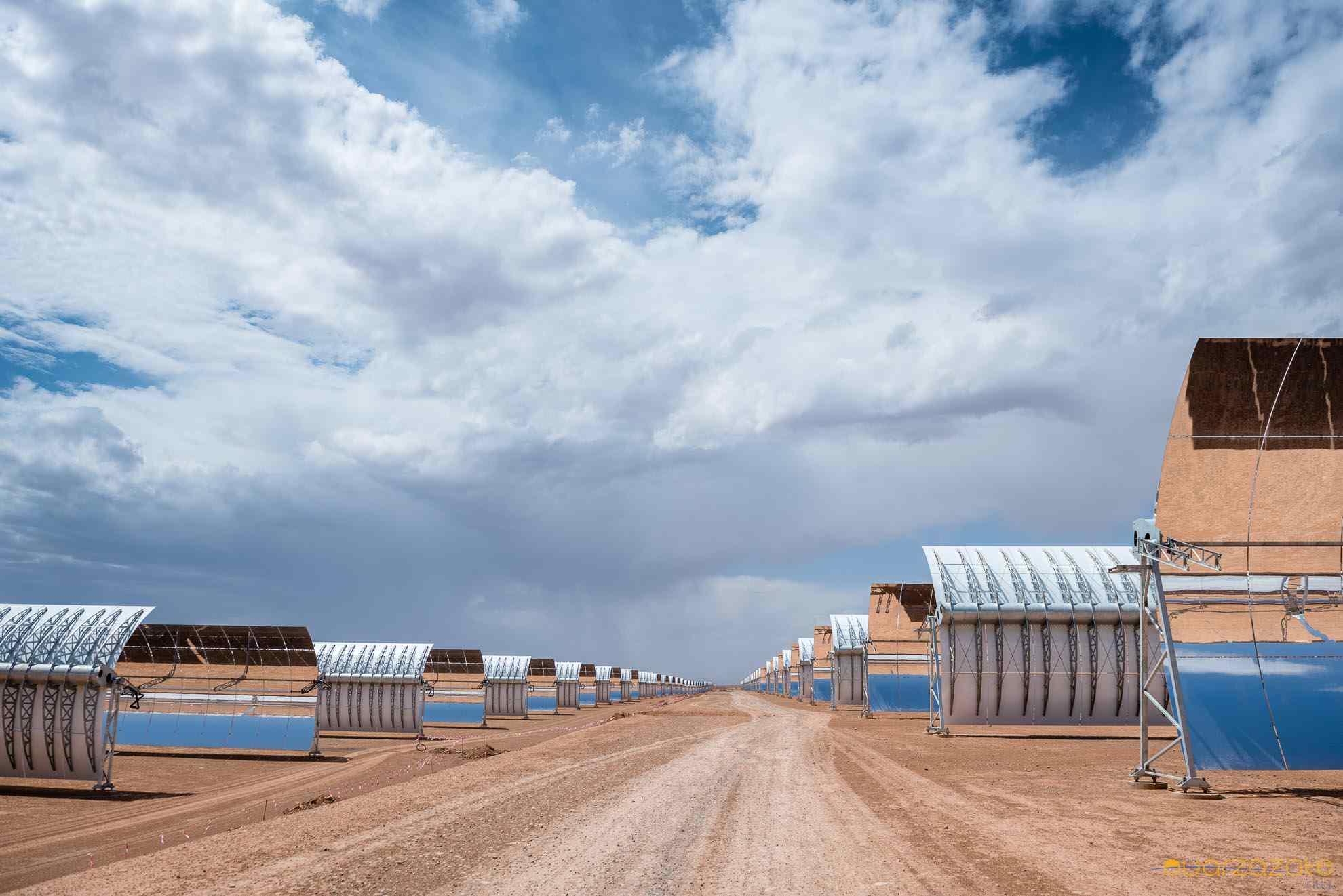 Inside Ouarzazate solar power station
