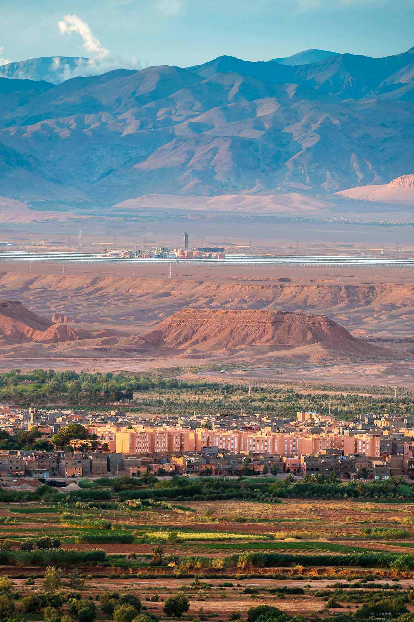 Solar power station near Ouarzazate