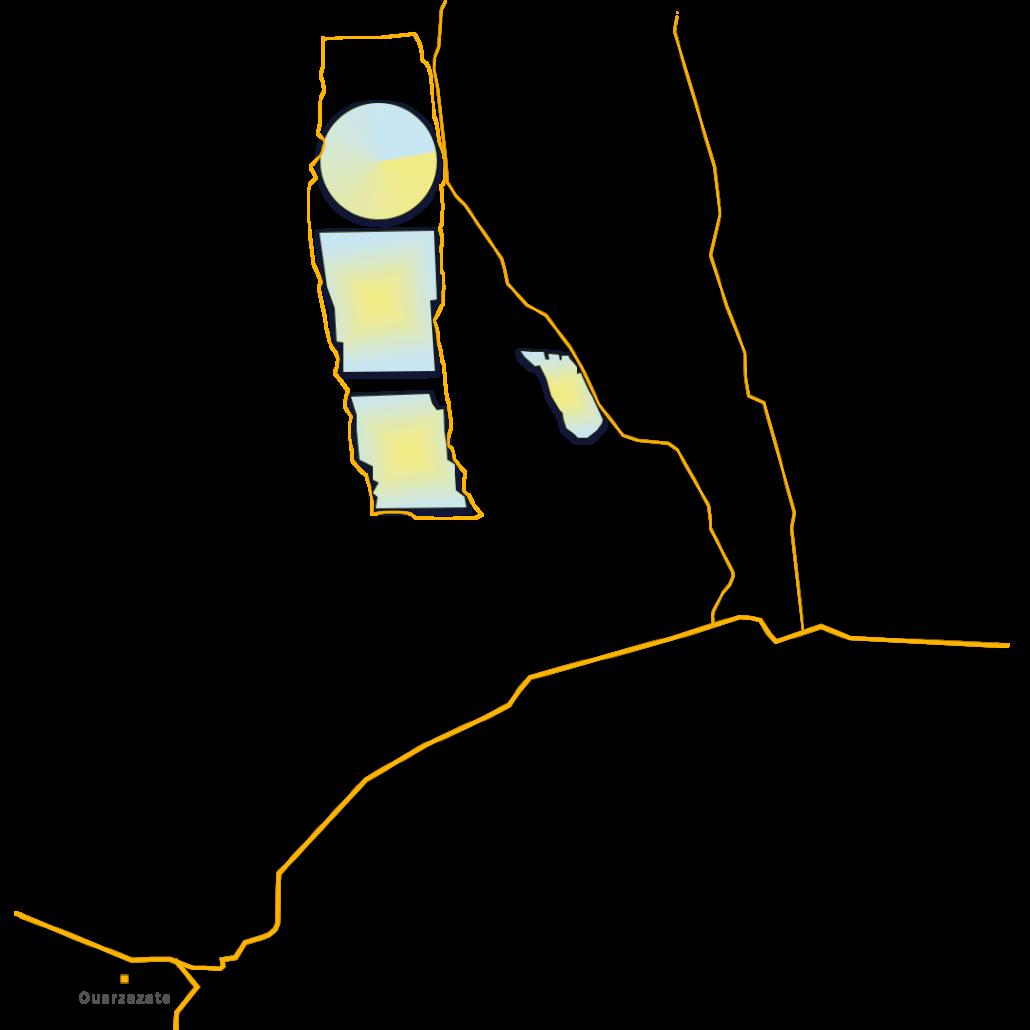 Ouarzazate solar power station map