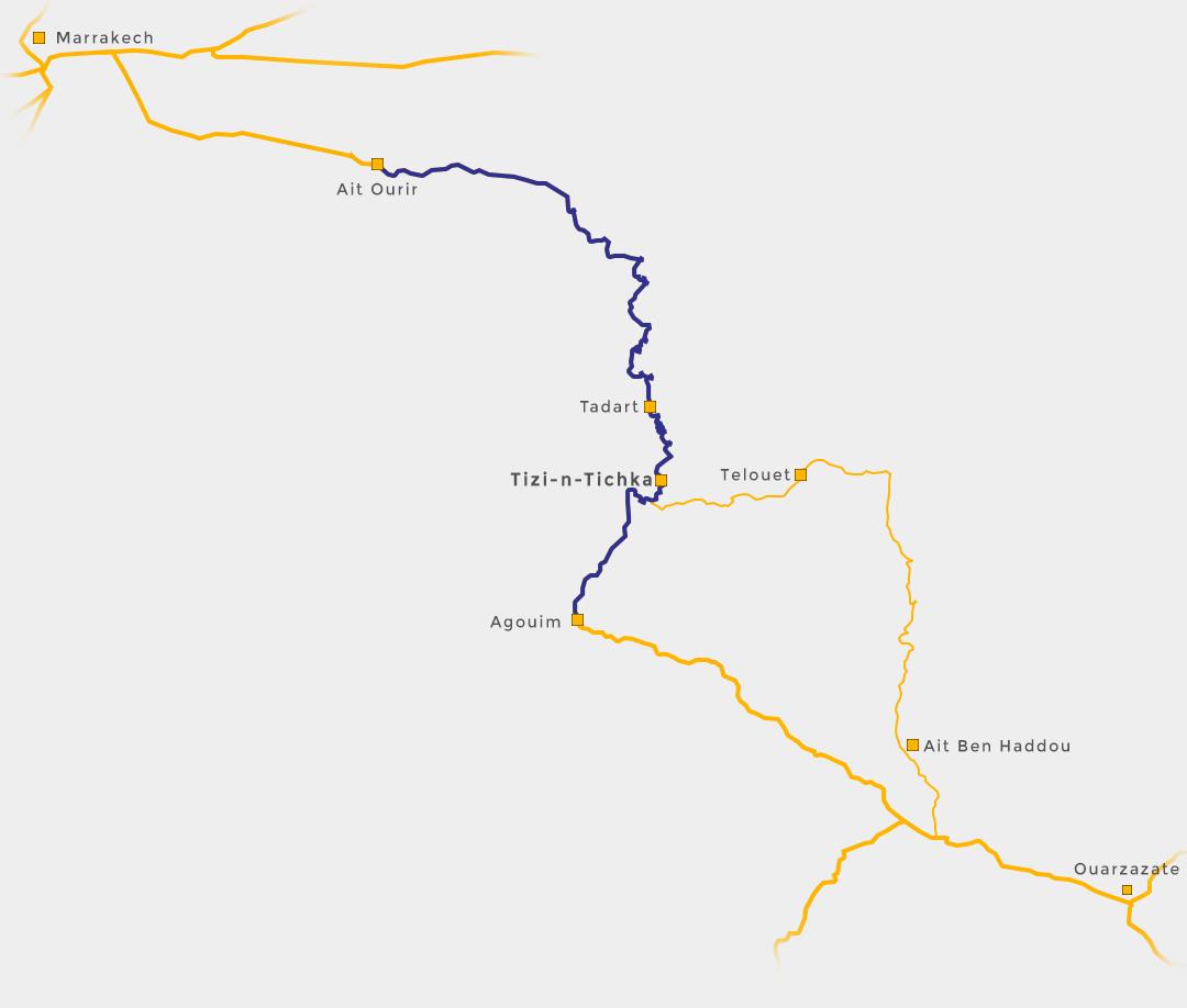 Tizi-n-Tichka map