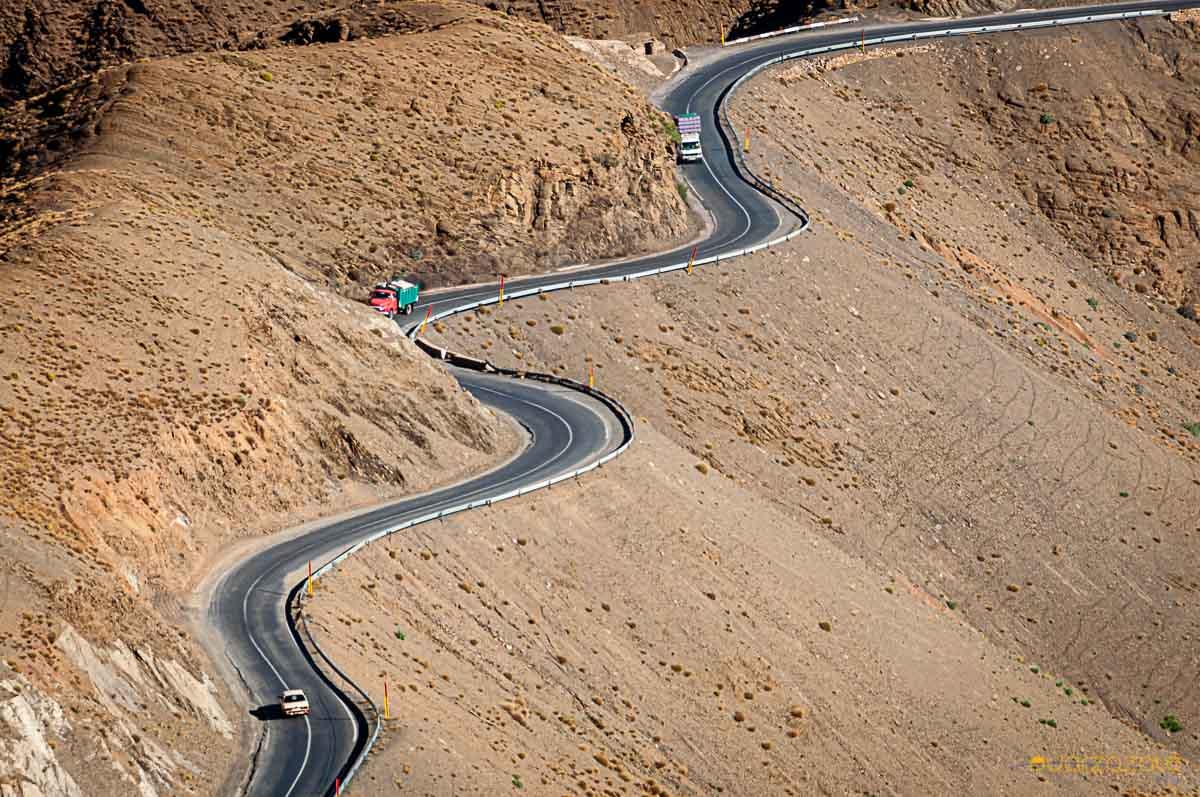Seanky road of Tizi-n-tichka