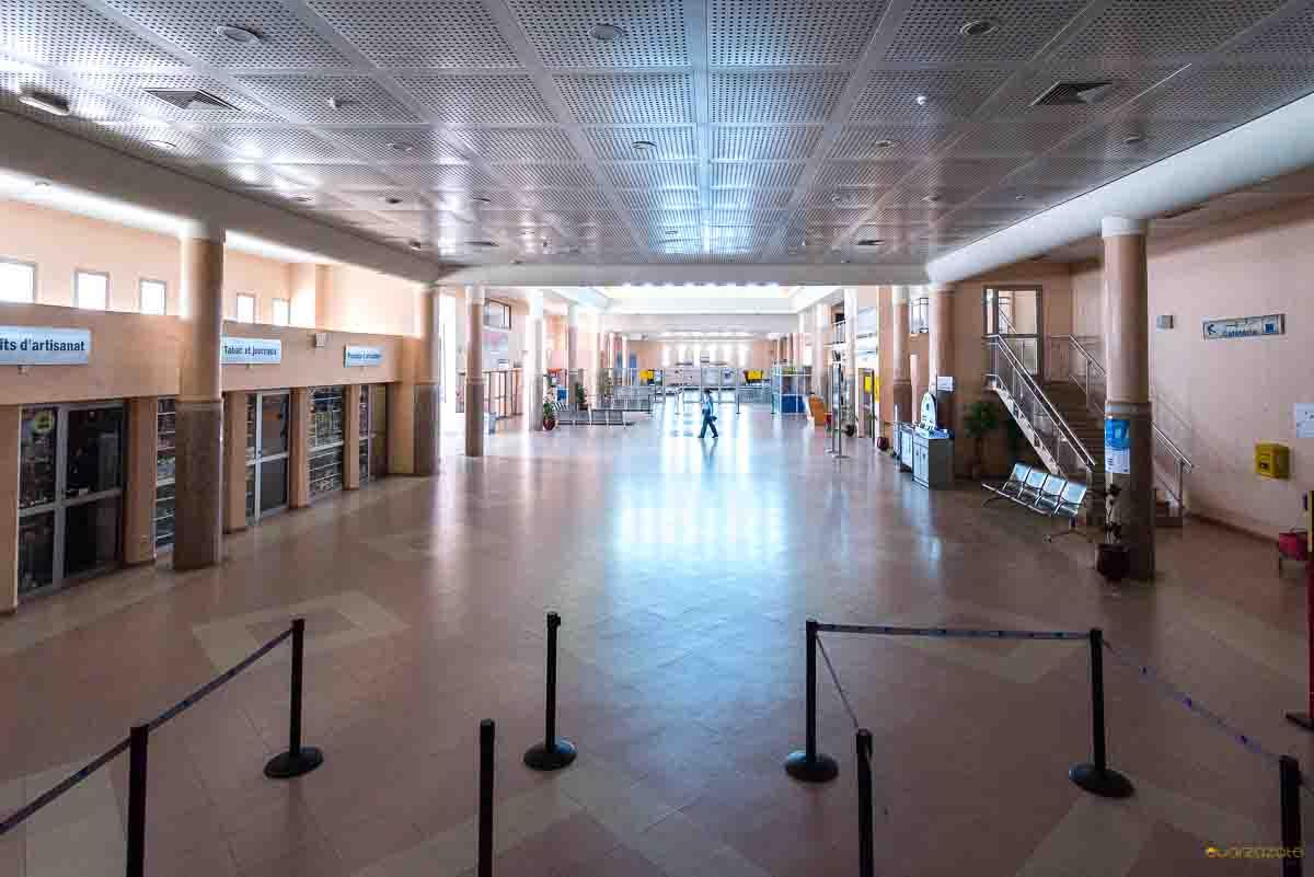 Airport Ouarzazate waiting area